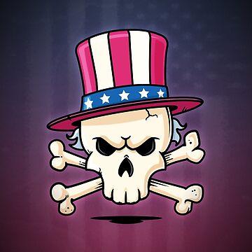 Uncle Sam Skull by zoljo