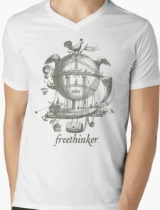 Freethinker Mens V-Neck T-Shirt