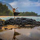 Hula Dancer at Lumaha'i Beach, Kauai, Hawaii by HealthyTrekking