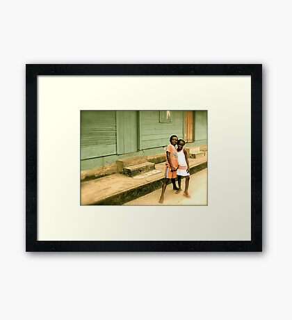 """""""Take a picture of us!"""" Framed Print"""