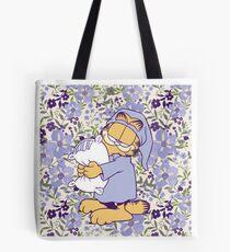 Bolsa de tela Garfield floral soñoliento