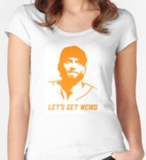 """Let's Get Weird"" - Hunter Pence Women's Fitted Scoop T-Shirt"
