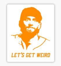 """""""Let's Get Weird"""" - Hunter Pence Sticker"""