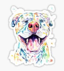 Tango The Smiling Pit Bull Sticker