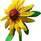 einzigartiges Blumen Puzzle, gelber Sonnenhut von rhnaturestyles
