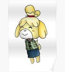 Isabelle Chibi (Animal Crossing:New Leaf) Poster