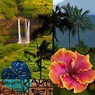 Opaeka'a Falls, Kauai Hawaiian Digital Mixed Media by HealthyTrekking
