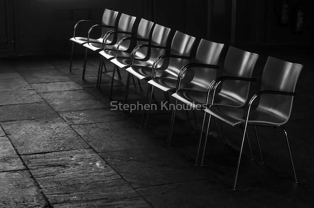 Simple row of chairs by Stephen Knowles