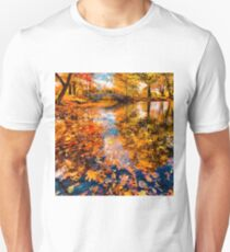Boston Fall Foliage Reflection Unisex T-Shirt