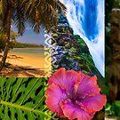 Anini Beach, Kauai Hawaiian Digital Mixed Media by HealthyTrekking