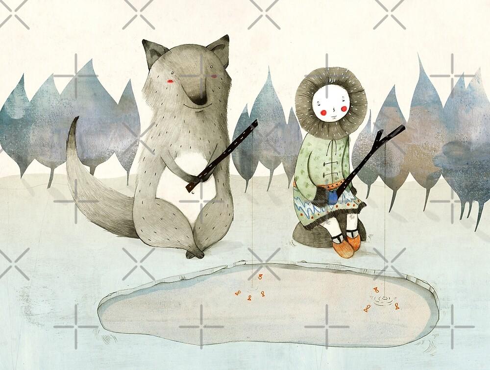 Das kleine Inuitmädchen und der Wolf von Judith Loske