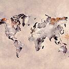 world map grey brown #map #world by JBJart