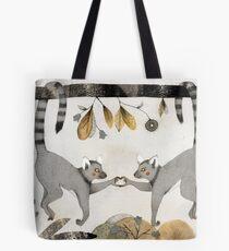Lemurs In Love Tote Bag