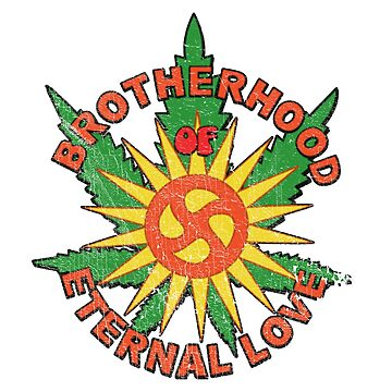 Brotherhood Of Eternal Love Hippie Mafia Logo (Distressed) by PissAndVinegar
