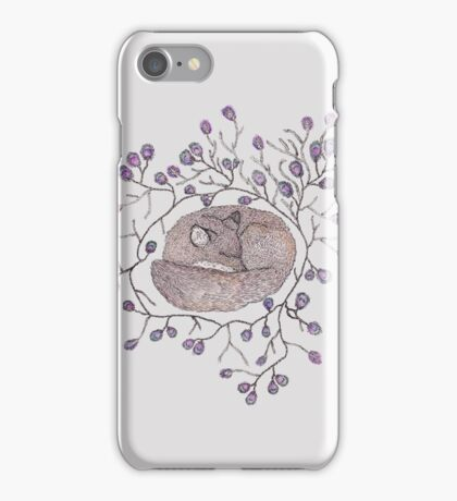 Sleeping in a ring of Peacock Feathers iPhone Case/Skin