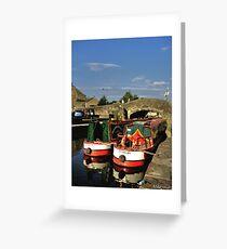 Skipton Canal Greeting Card