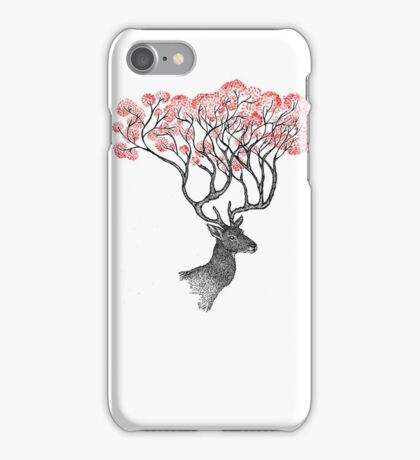 Pink Blossom Antlers iPhone Case/Skin