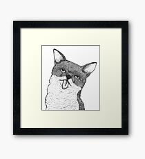 Stick Your Tongue Out Framed Print