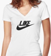Just Like Fitted V-Neck T-Shirt