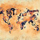world map brown #map #world by JBJart