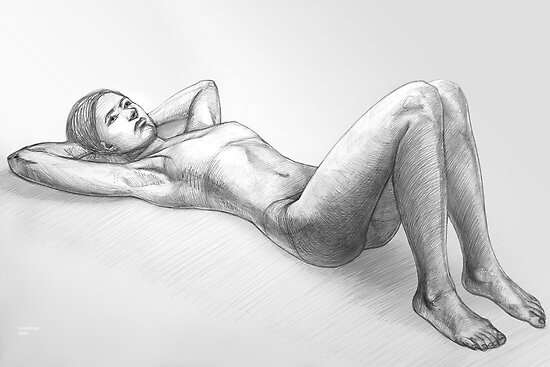 reclining nude by natoly