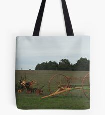 Old time farming implements Tote Bag