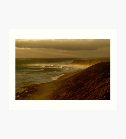 Sunset Sunburst, 13th Beach, Surf Coast Art Print