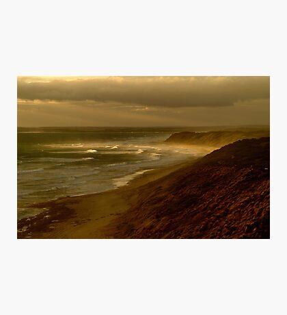 Sunset Sunburst, 13th Beach, Surf Coast Photographic Print