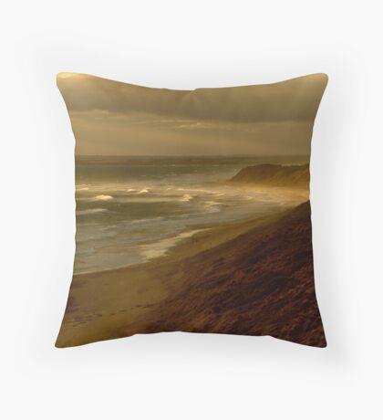 Sunset Sunburst, 13th Beach, Surf Coast Throw Pillow