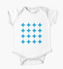 Diamond Brush Stroke Pattern (Blue White) One Piece - Short Sleeve