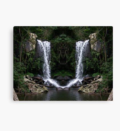 Curtus Falls Mirrored Canvas Print