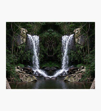 Curtus Falls Mirrored Photographic Print