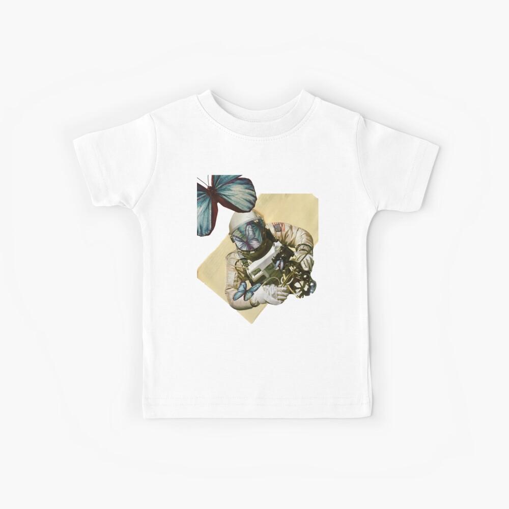 Schmetterlinge im Weltall Kinder T-Shirt