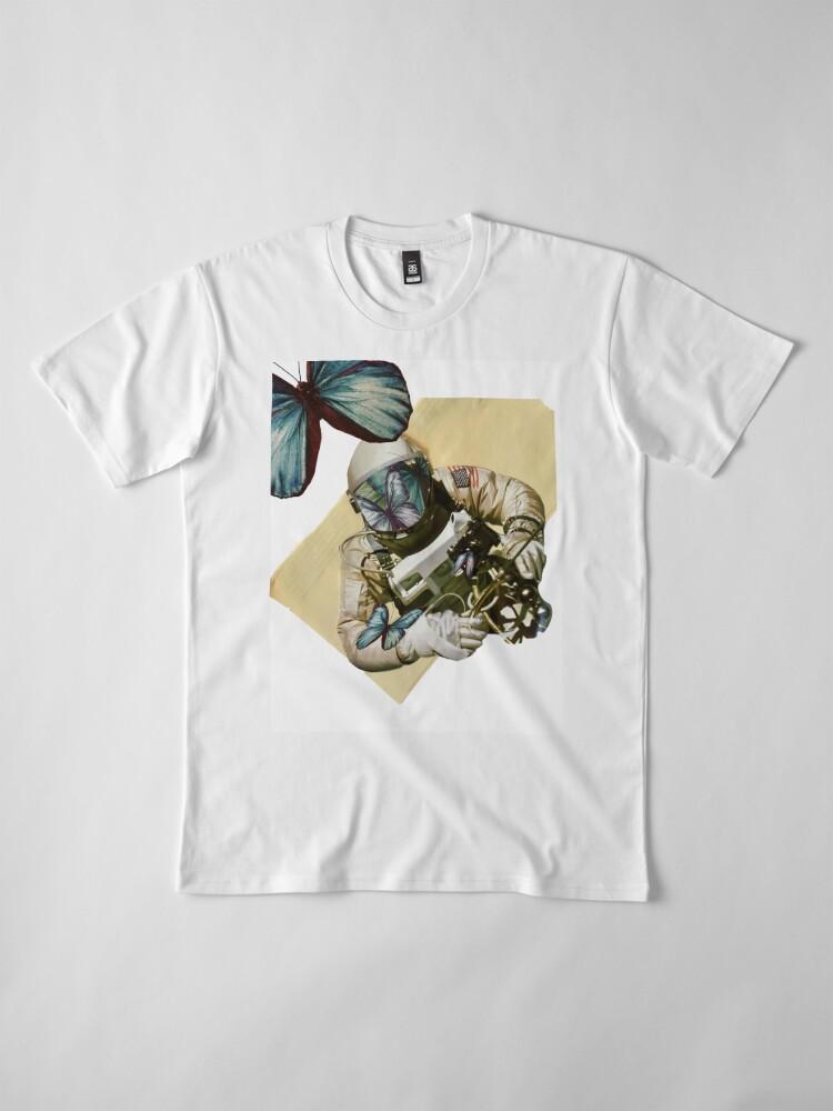 Alternative Ansicht von Schmetterlinge im Weltall Premium T-Shirt