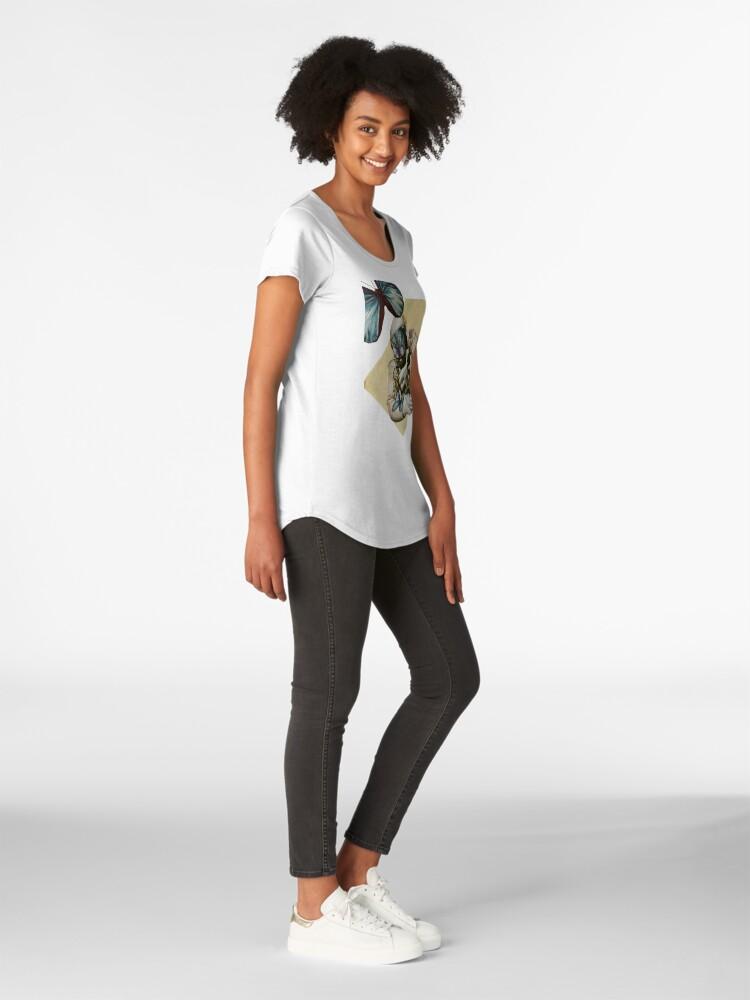 Alternative Ansicht von Schmetterlinge im Weltall Premium Rundhals-Shirt