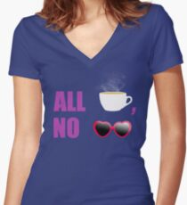 All T, No Shade  Women's Fitted V-Neck T-Shirt