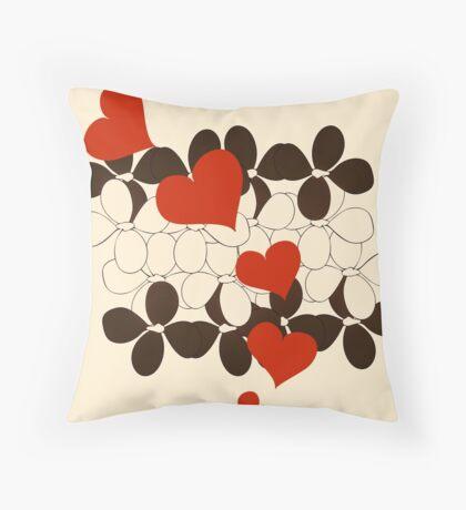Sneaky Hearts Throw Pillow
