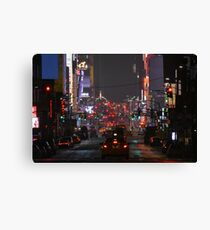 Times Square Nightlife Canvas Print