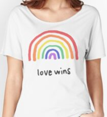 LGBTQA+  PRIDE [Love Wins] Women's Relaxed Fit T-Shirt