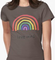 LGBTQA+  PRIDE [Love Wins] Womens Fitted T-Shirt