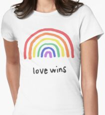 LGBTQA+  PRIDE [Love Wins] Women's Fitted T-Shirt