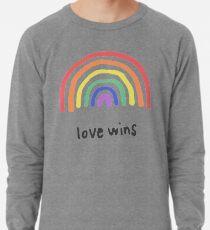 LGBTQA + PRIDE [Liebe gewinnt] Leichtes Sweatshirt