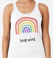 LGBTQA+  PRIDE [Love Wins] Racerback Tank Top