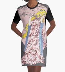 Cherry Blossom Moon Graphic T-Shirt Dress