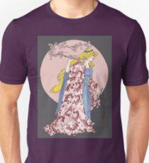 Cherry Blossom Moon Unisex T-Shirt