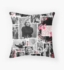 "Marilyn Monroe ""Deserve Me At My Best"" Collage/Quote  Throw Pillow"
