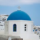 Blue Dome of Santorini by noeldolan