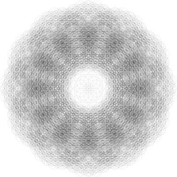 Mandala of Squares (Super High Resolution Mandala Made From ONLY Squares) [Contraction of Metatron] Sacred Geometry by FreshThreadShop