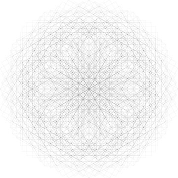 Mandala of Squares (Super High Resolution Mandala Made From ONLY Squares) [The Diamond's Expanding Wave] Sacred Geometry by FreshThreadShop