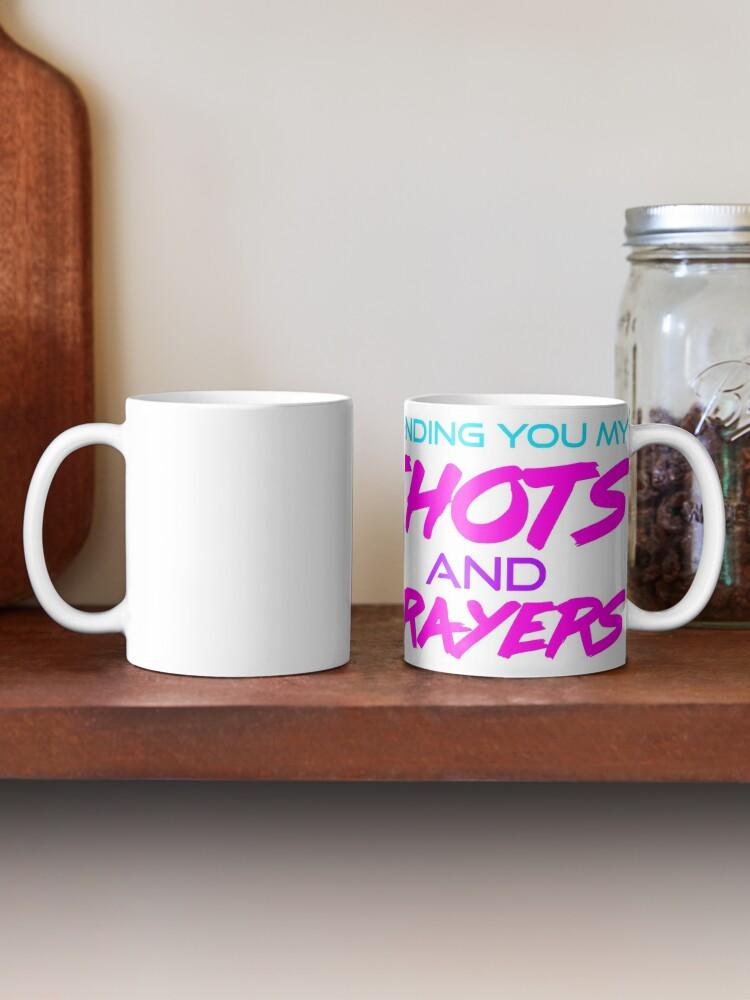 Alternate view of Thots and Prayers - Vaporwave Edition Mug